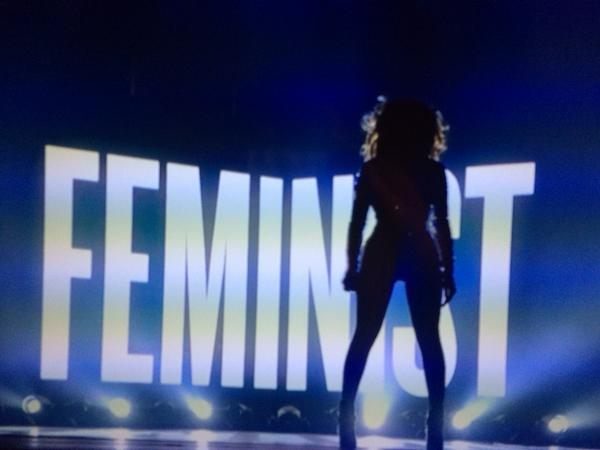 beyonce feminism At the 2014 mtv video music awards, black american pop superstar beyoncé  not only led nominees with eight nominations (taking home awards in three.