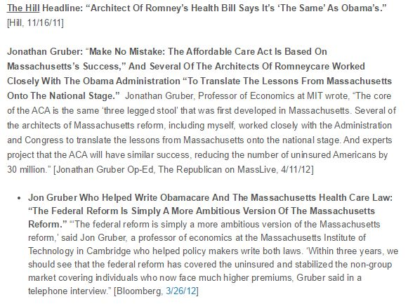 Gruber Helped Write Obamacare