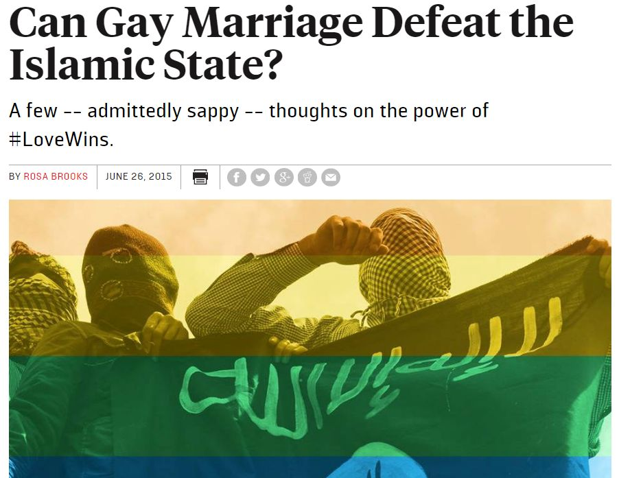 Can Gay Marriage Defeat The Islamic State?