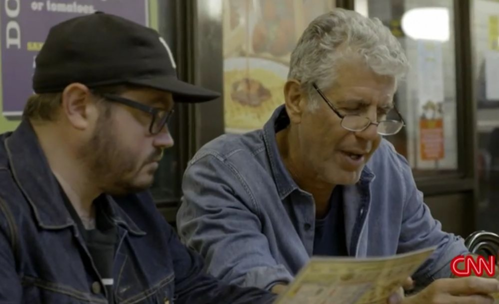 Watch Anthony Bourdain Experience Waffle House For The First Time