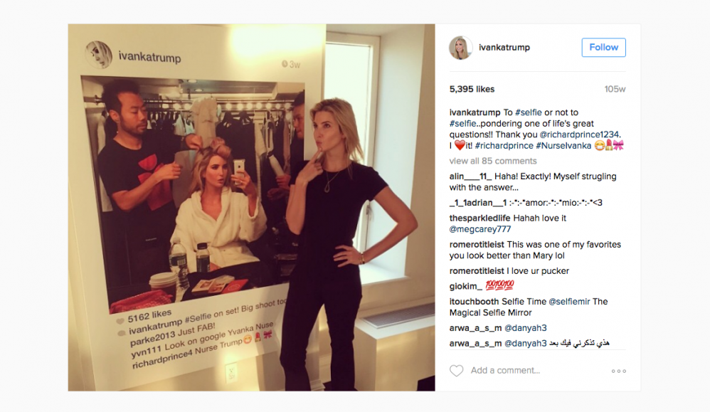 This Modern Artist's Shot At Ivanka Trump Is All The Narcissism of Politics, Pop Culture, And Protest In One Story
