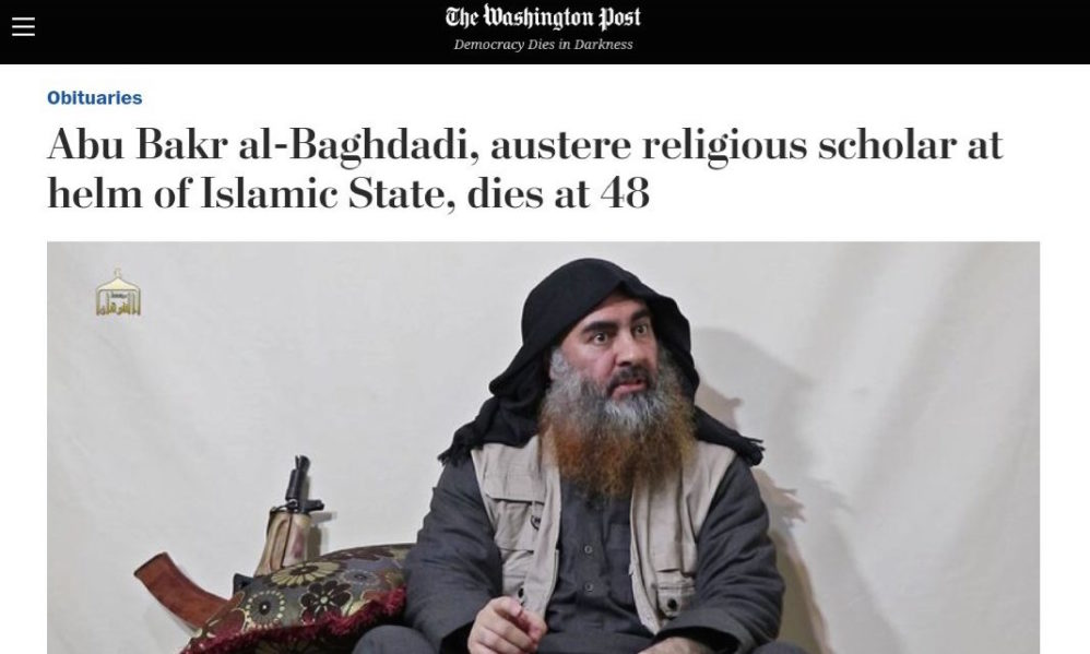 Image result for washington post al baghdadi""