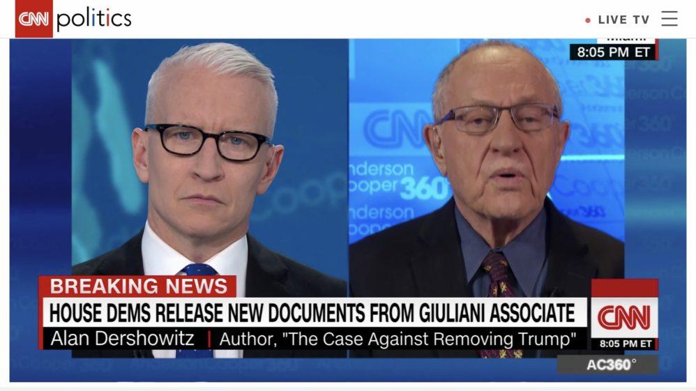 No, Trump Defense Lawyer Alan Dershowitz Is Not Conceding Abuse Of Power