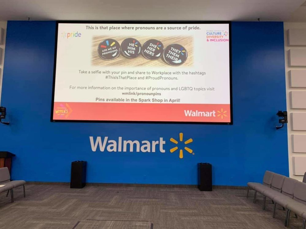 Woke Walmart Introduces Pronoun Buttons For Workers