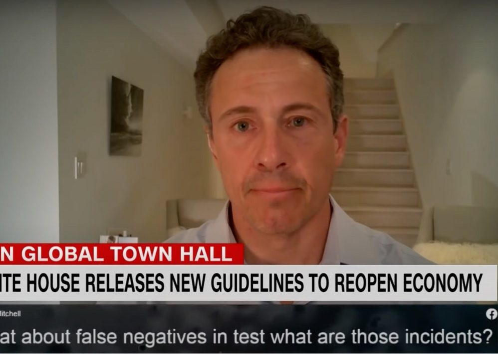 Chris Cuomo, Recovered From COVID, Stages Weird 'Official' Emergence From Basement After Admitting He Left His House On Easter