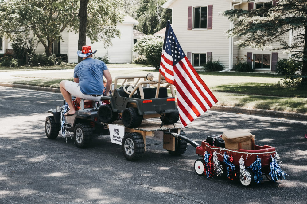 Fourth of July Power Wheels