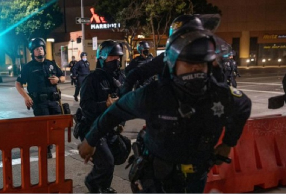 AP, ABC News On Violent Riot: 'Peaceful Demonstration Intensified'