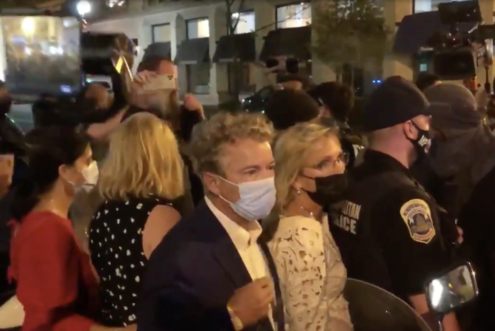 'Blue Checkmarks' Tweet Approval Of Aggressive Mob That Swarmed Rand Paul