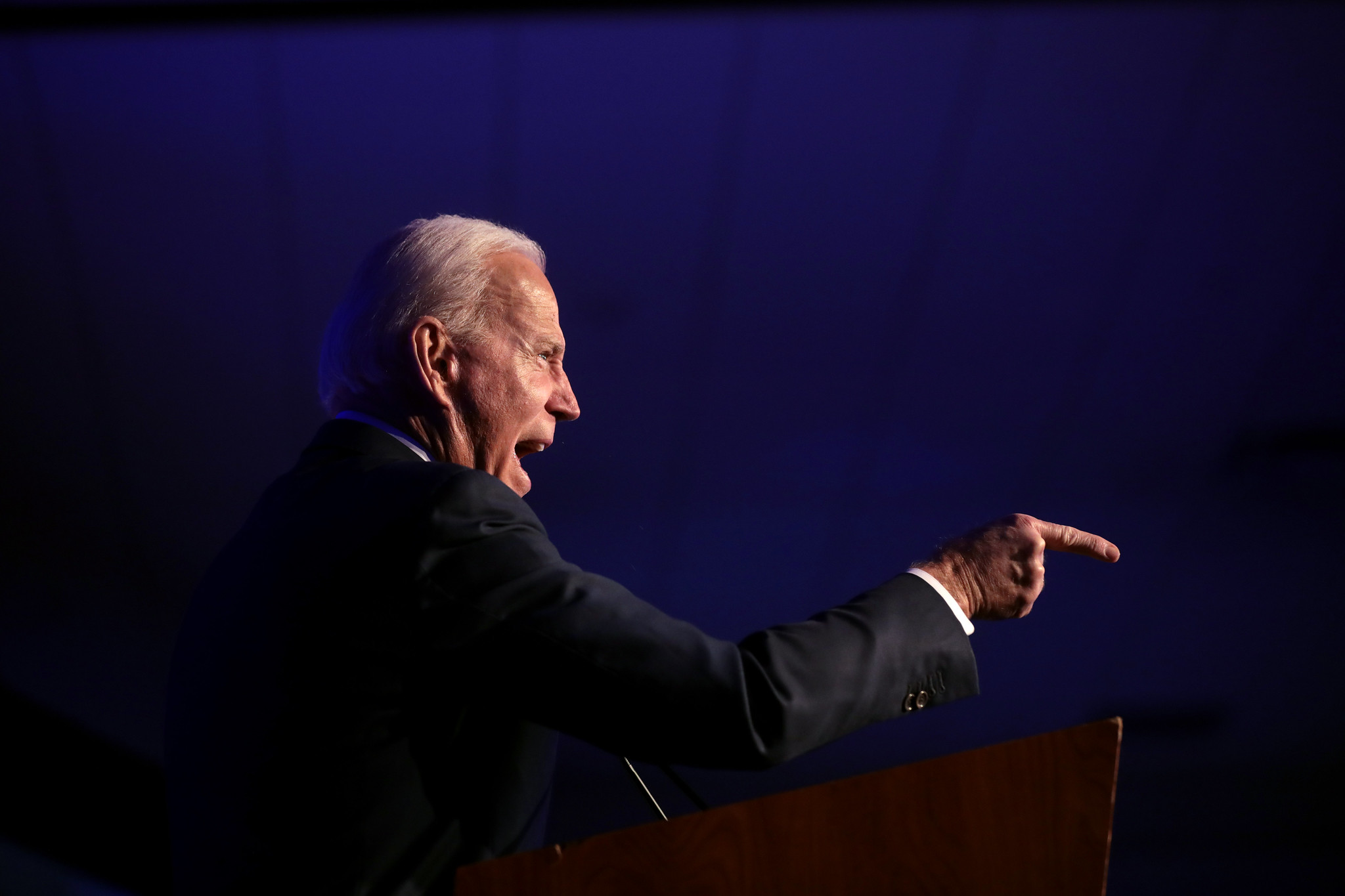 Joe Biden at the Clark County Democratic Party's 2020 Gala in Las Vegas. Gage Skimore/Flickr.