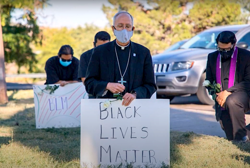 BLM sign Catholic bishop