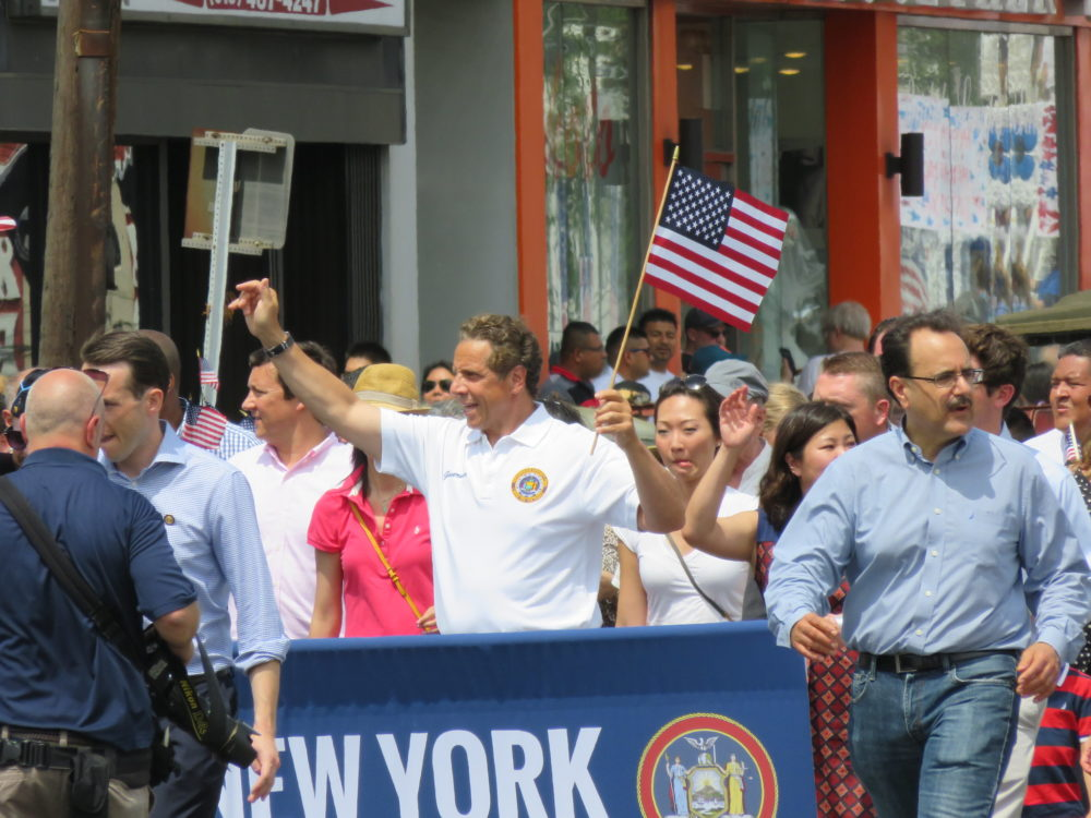 Gov. Andrew Cuomo in a 2016 Memorial Day Parade. Pamela V White/Flickr.
