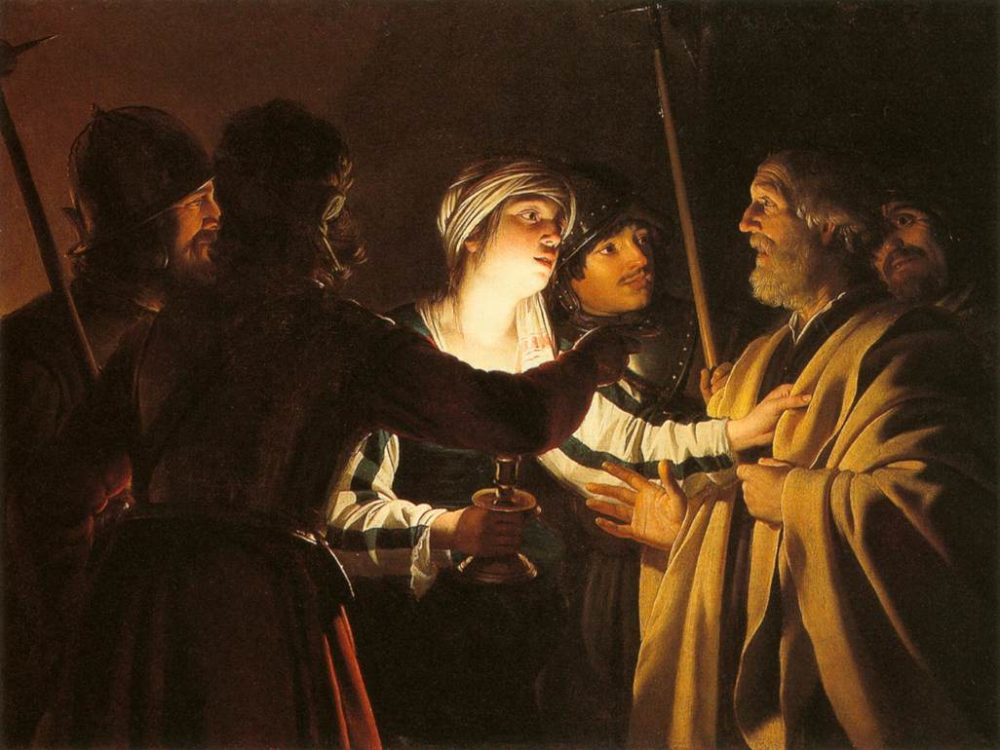 The Denial of St. Peter by Gerard van Honthorst. Minneapolis Institute of Art.